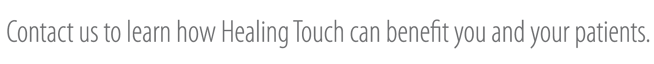 Find out more abut Healing Touch Research